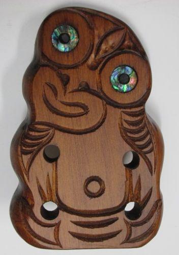 M05050 - Maori Hand-Carved Small Tiki Free Standing