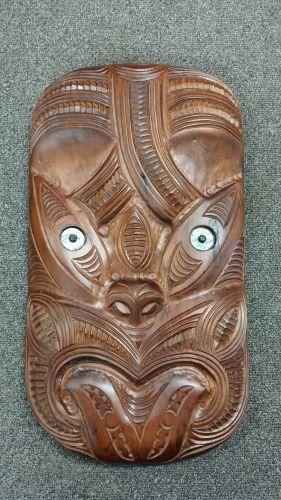 M05086 - Maori Hand-Carved Xlarge Mask - Wheku