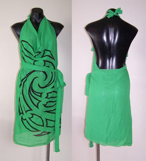 M03151 - Revolutionary Apron Wrap Green - Whakaora pattern