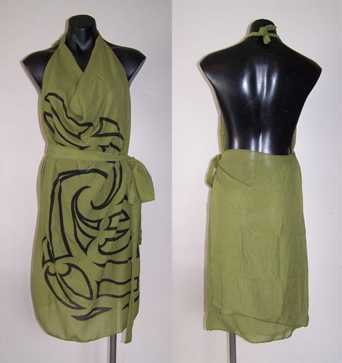 M03157 - Revolutionary Apron Wrap Olive Green - Whakaora pattern