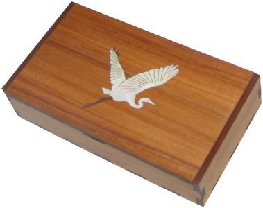 M09098 - Rimu Trinket Box - Heron