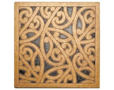 M09121 - Tile Art - Kowhaiwhai - design Tahi