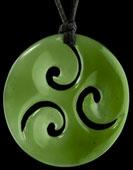 M01886 - Jade/Greenstone Carving Tri Koru
