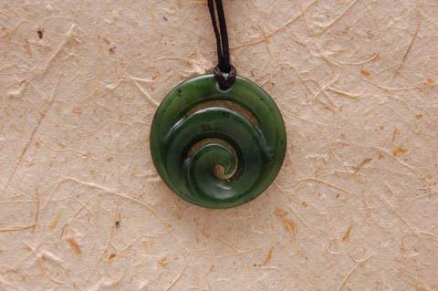 M07362 - Jade/Greenstone Carving Koru