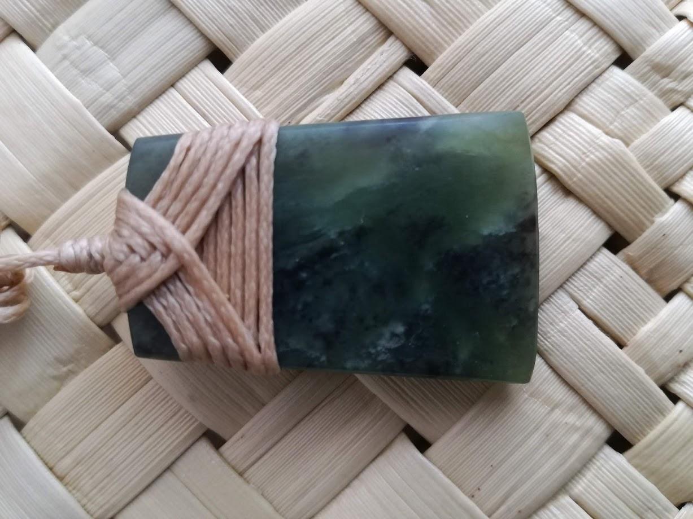 M07468 - Jade/Greenstone Carving Small Bound Toki
