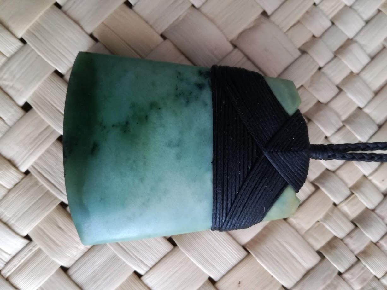 M07471 - Jade/Greenstone Carving Bound Toki