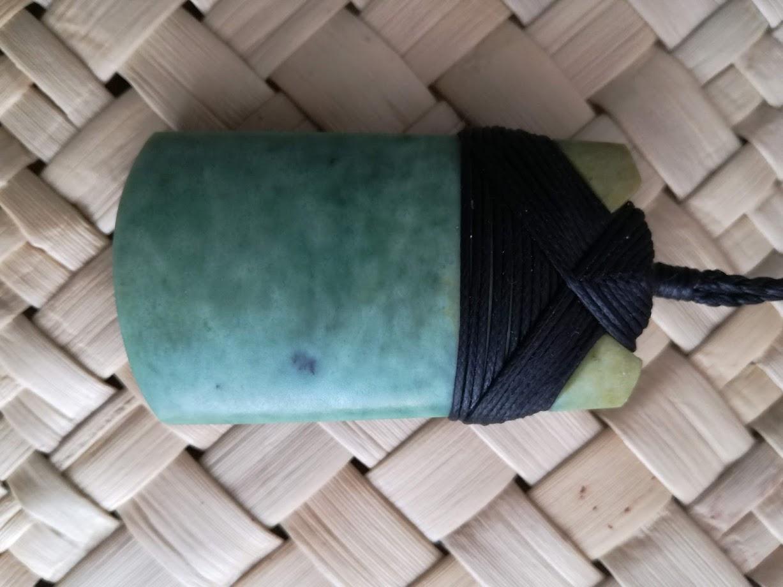 M07472 - Jade/Greenstone Carving Bound Toki